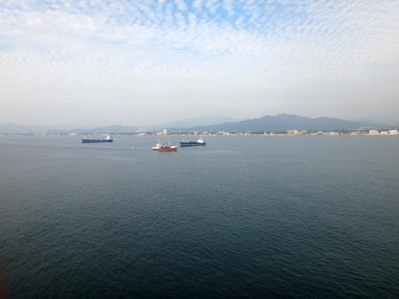 Scene of Manzanillo, Colima, Mexico from a cruise ship.