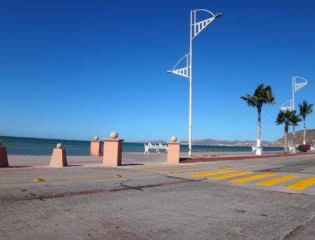 Scene of La Paz, Baja California Sur, Mexico. Stock Photo