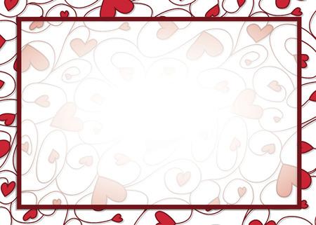 Swirly heart border in vector format. Illustration