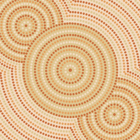 Riverbank abstract Aboriginal dot painting in vector format