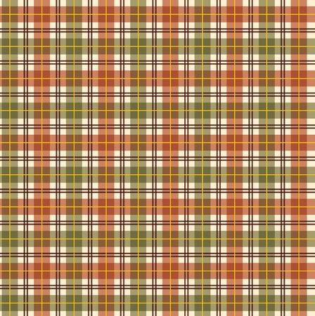 Thanksgiving Fall plaid in vector format.