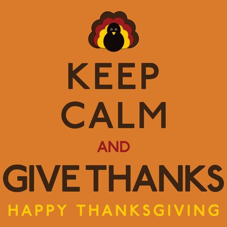 Thaksgiving Keep Calm card in vector format. 일러스트