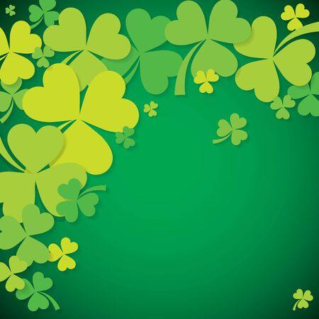 Shamrock clover St Patricks Day card in vector format.