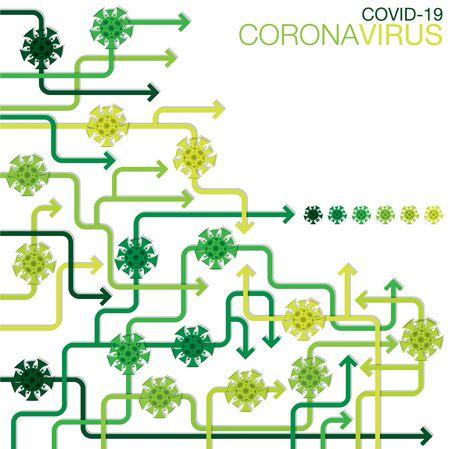 Coronavirus, covid-19, 2019-ncov Wuhan virus infographic in vector format.