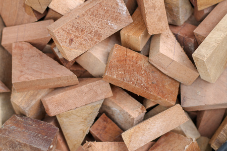 sawn wood cut piled perfectly as backround or use to play as toys.