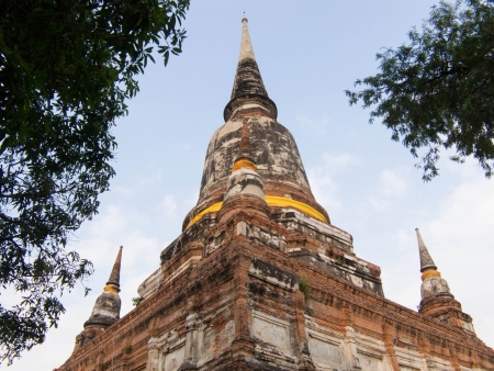 the beautiful and ancient Chedi in Wat Yai Chai Mongkol