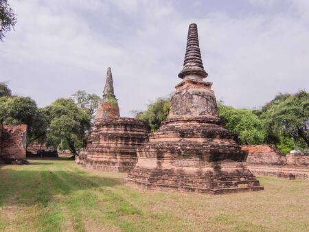 old jedis in Ayutthaya province. Stock Photo - 16918484