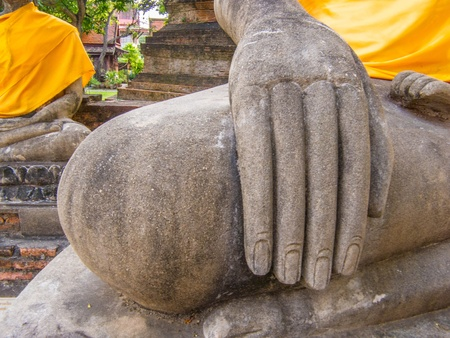another position of the hand of Buddha statue.