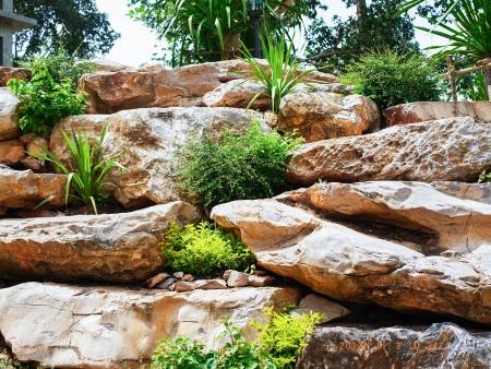 die Felsen geben ein Gefühl von Schönheit Standard-Bild