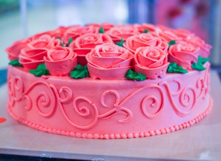 Cake is the dessert of choice at ceremonial occasions  Stock Photo