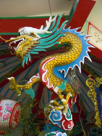 the Chinese Dragon is a symbol of the greatnes  and power of men   Stock Photo