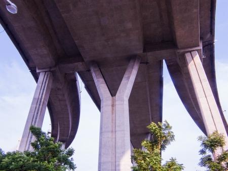 y shaped: The big bridge changes  everything under   Stock Photo