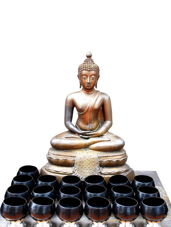 upturned:  Thursday is the day the Buddha attained enlightenment    In the cross-legged sitting posture flat   Both hands on the thighs is stacked upturned right hand over the left hand