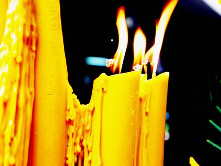 Candles are generally  lit in the worship of the Buddha Stock Photo - 26034836