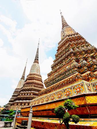 Three Phra Maha Chedi in Wat Pho , Thailand
