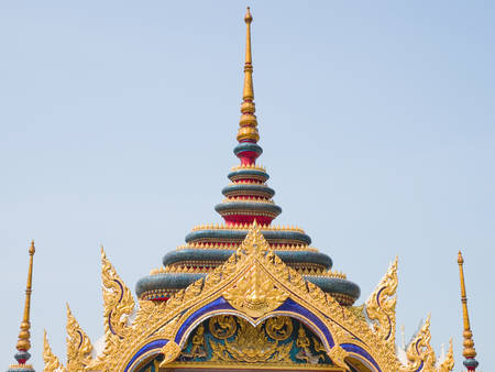 lintel: A fully decorated gate of a temple in Bangkok