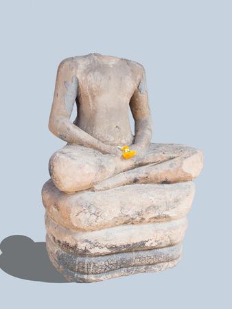 Headless buddha image in the Thai National Museum  Stock Photo