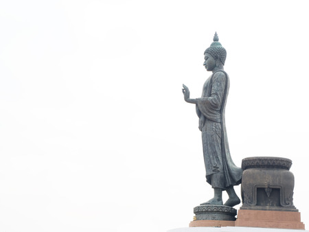 The standing buddha statue with 15 87 meters high and considered to be the highest standing Buddha statue of the world