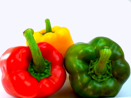 capsaicin: Sweet pepper contain capsaicin and has  many nutritional value  and benefits. Stock Photo