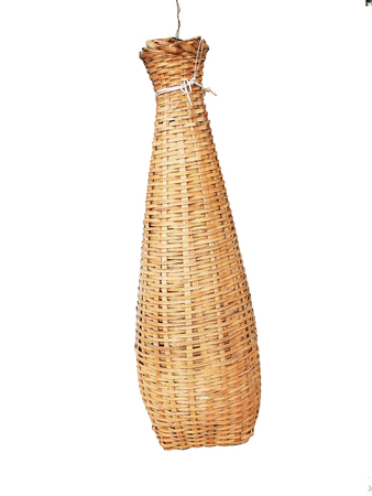 tapering: A fish trap with bottled -  shape and and a local wisdom of Thai.  Stock Photo