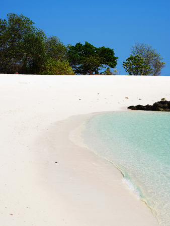 andaman sea: A golden sand beach on koh kai island in Andaman Sea of Thailand. This photo was taken in March 2015.