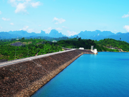 Ratchaprapa Dam or Chiew Larn Dam is built in 1982 and located in Khao Sok national park in Surat Thani Province in the southern part of Thailand.
