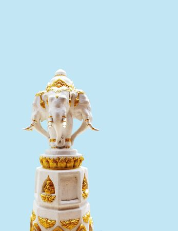 headed: The three - headed elephant that is a carrier of Indra of Hinduism.