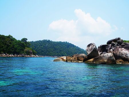 This small island is one of the destinaton of tourists for snorkeling.