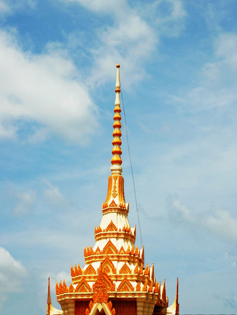 tiers: A top structure of a pavilion in Thai design.