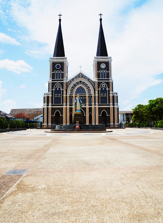 roman catholic: The Cathedral of Immaculate Conception is the largest Roman Catholic church of Thailand. Stock Photo