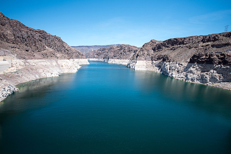 hoover dam: The highest concrete dam stands at more than 725 feet above the Colorado River to provide irrigation water and produce hydroelectric power.