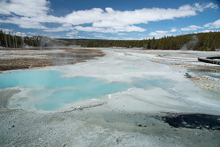 The world of heat and gases with colorful landscape and hot springs. Stock Photo - 87889228