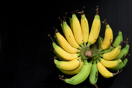 The tropical fruits with protective outer layer and the edible inner portion.