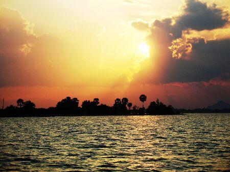 Sunset on the Sea of Thailand Stock Photo - 13276587