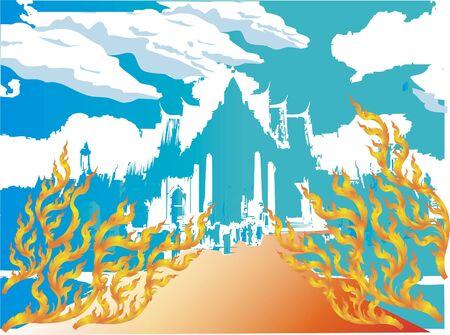 Thai temples Illustration