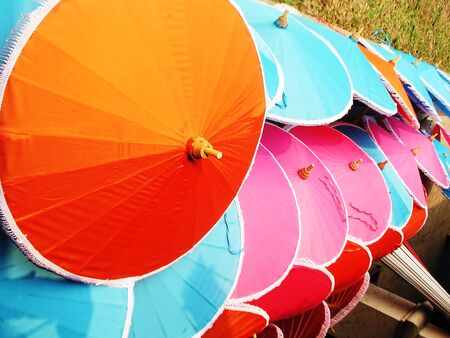 Handicrafts Umbrella Stock Photo