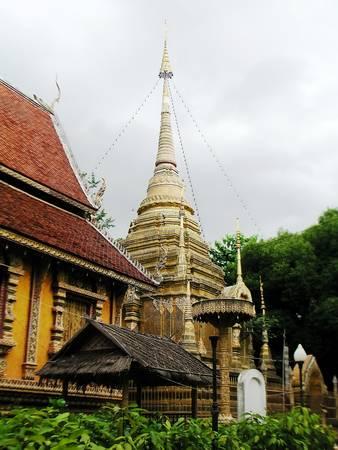 lanna: Pagoda Lanna Stock Photo