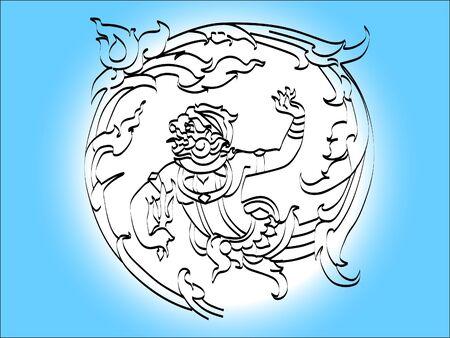 literature: hanuman literature Illustration