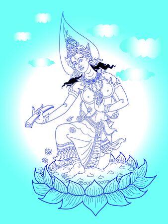 fairy line thai Illustration