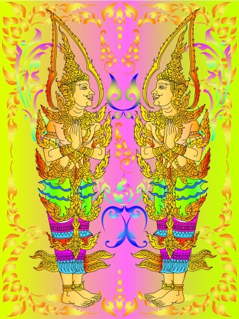 murals: Angel murals Illustration