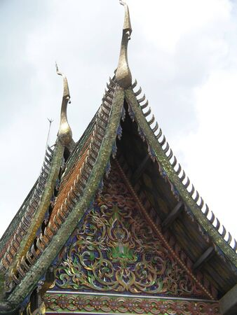 busts: Thai temple roof Stock Photo