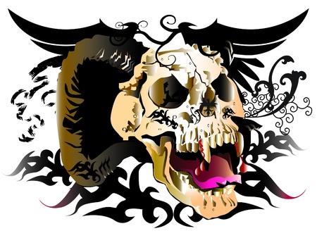 design tattoo: skull design