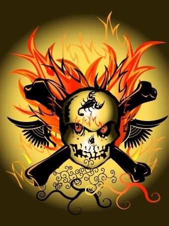 skull design: skull design fire