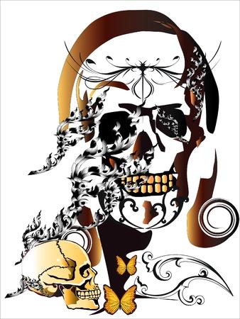 skull pattern lady