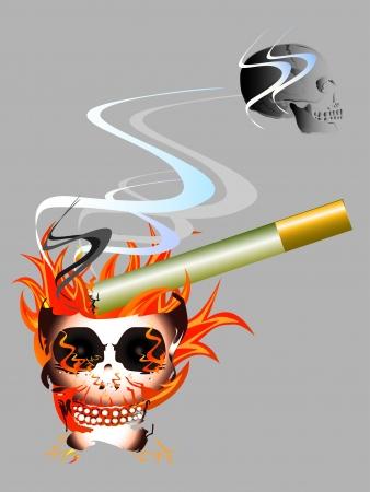 smoking kills: no smoking Illustration