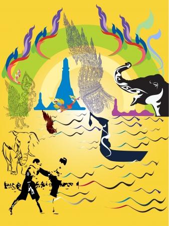 thai traval  Illustration