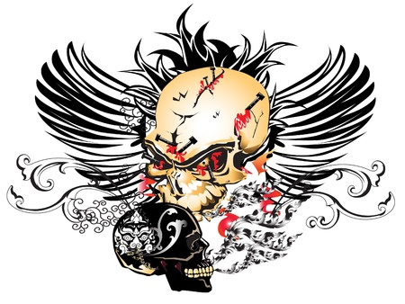 skull wings Stock Vector - 16726327