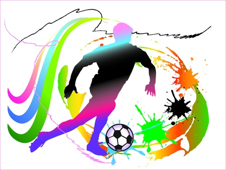 football art action Vector