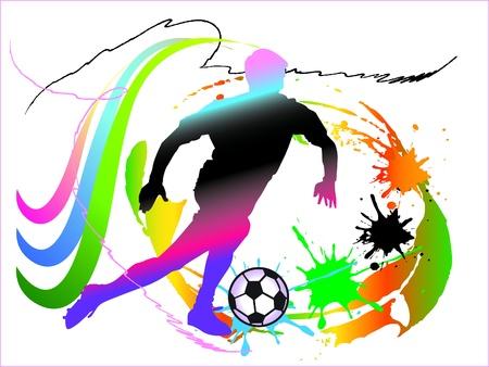 football match: football art action