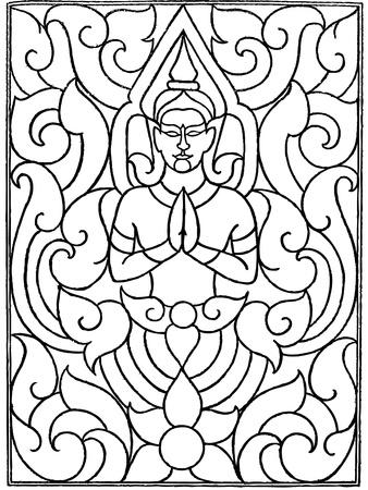 Angel pattern line thai